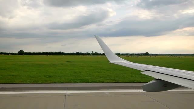 Plane take-off video