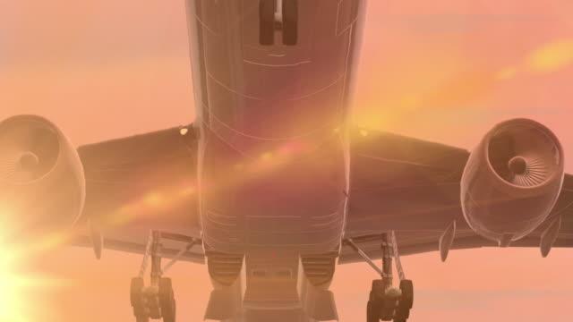 Plane taking off video