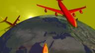 (Loop) Planes Around the World video
