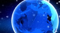 Planet and Snowflake video