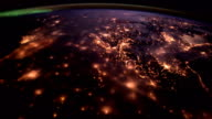 Planet Earth at night seen from the ISS. Elements of this video furnished by NASA video