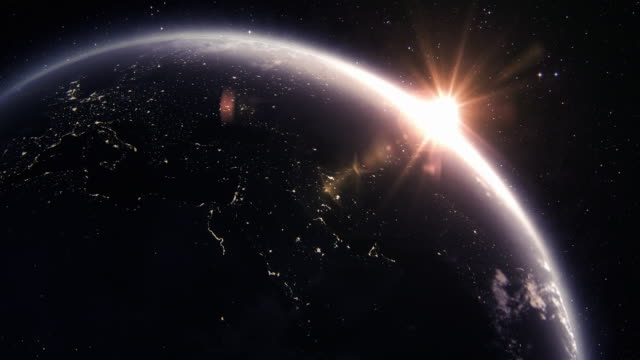 Planet Earth at night video