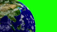 Planet Earth in space on GREEN SCREEN. LOOP video