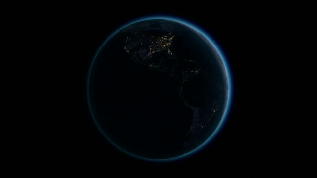 Planet Earth rotates, zoom to Africa 4K Ultra HD. video