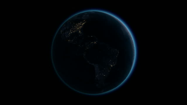 Planet Earth rotates, zoom to Asia 4K Ultra HD. video