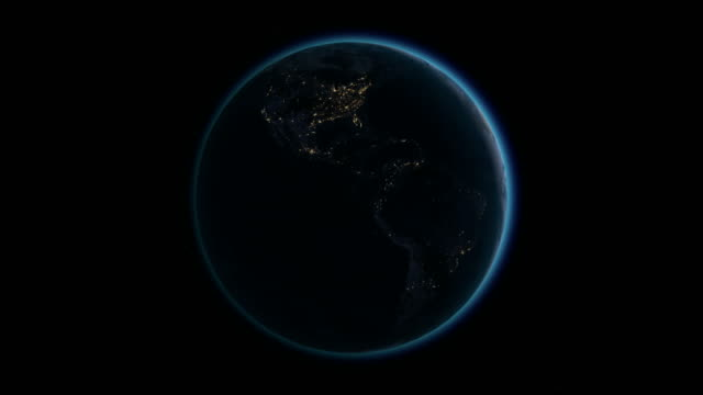 Planet Earth rotates, zoom to Europe 4K Ultra HD. video