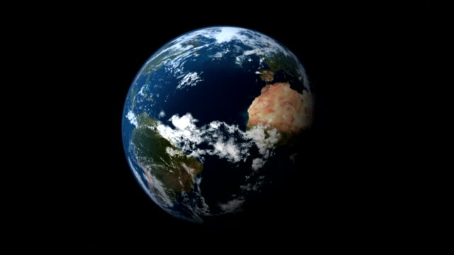 Planet Earth spinning in a loop. video