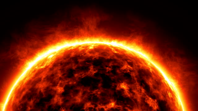 Planet Sun rotating, Animation video