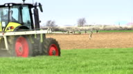 Plant protection spraying herbicides video