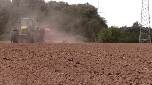 Planting crops. Agricultural industry works. video