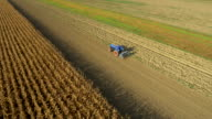 AERIAL Planting With The Tractor video