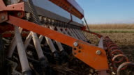 SLO MO Planting With The Wheat Seeder video