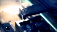 Plasma cutter in production line video