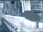 Plastic bottles on conveyor belt. video