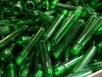 plastic form for pet bottle production. video