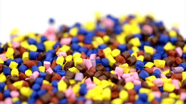 Plastic granules dolly video