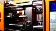 plastic press molding machine time lapse video