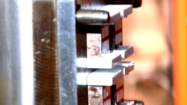 plastic press molding machine work - detail throw out video