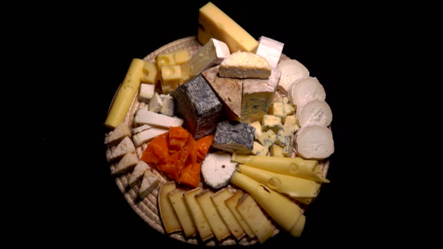 A plate of French cheeses video