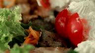 Plate of vegetable snacks video