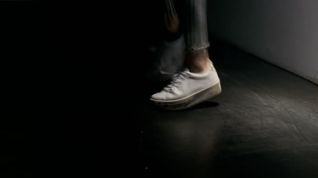 Platform Shoes of a Young Girl Dancing video