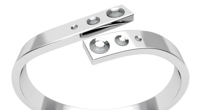 Platinum ring with diamonds video