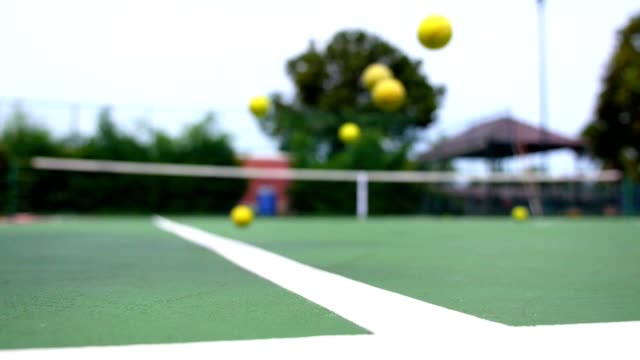 Play Tennis. Slow Motion video