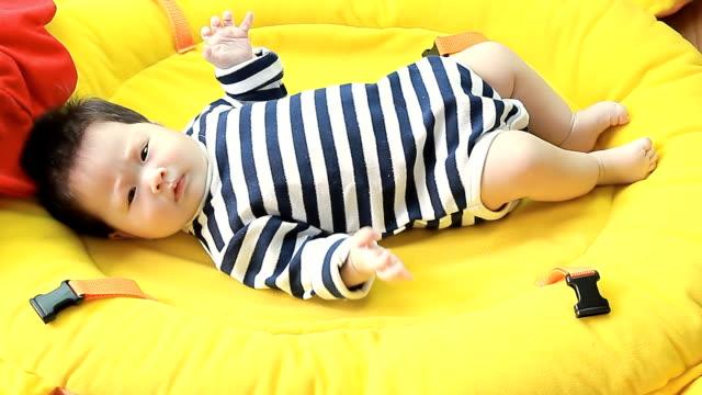 Playful baby girl video