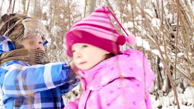 Playful winter kids video