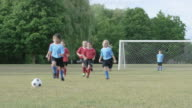 Playing a Soccer Game on a Team video