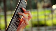 playing acoustic guitar outdoor in the street video