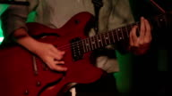 HD: Playing An Electric Guitar at concert party video