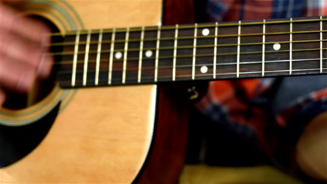 Playing At Yellow Acoustic Guitar video