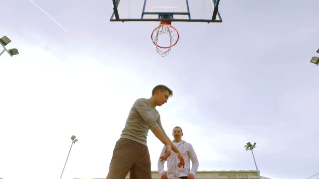 Playing basketball. video