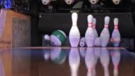 Playing Bowling video