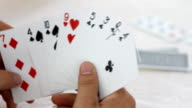 Playing card video