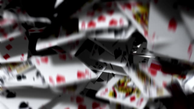 Playing Cards Blowing Away video