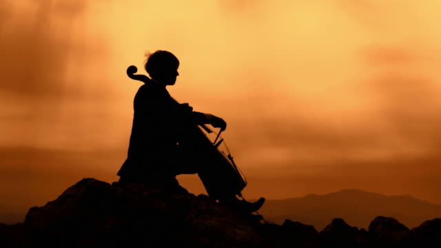 HD CRANE: Playing Cello At Sunset video