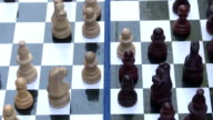 Playing Chess Closeup,  In The Park. video
