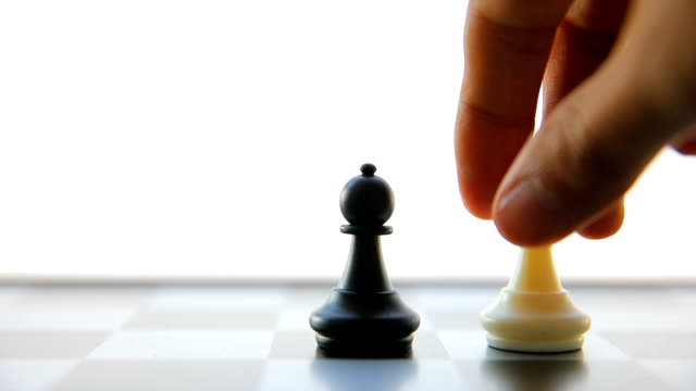 Playing chess game video