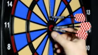 playing darts video
