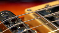 playing Electric guitar chords solo close-up video