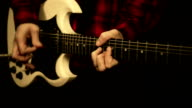Playing electric guitar video