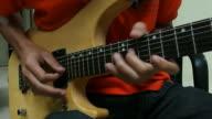 Playing Guitar closemusi-up - Stock Video video