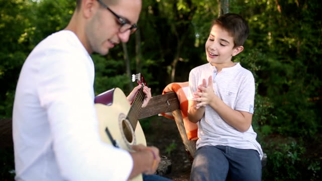 Playing guitar in the park video