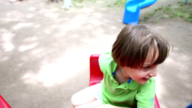 Playing in park video