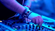 DJ playing music at a party. video