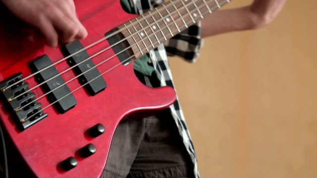 Playing music on electric guitar video