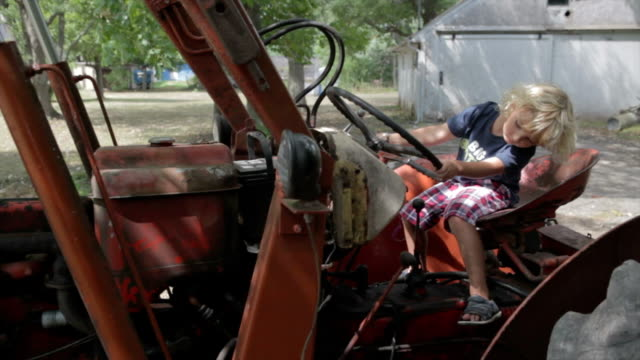 Playing On Tractor video