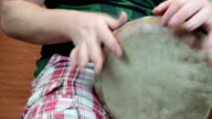playing percussion. video